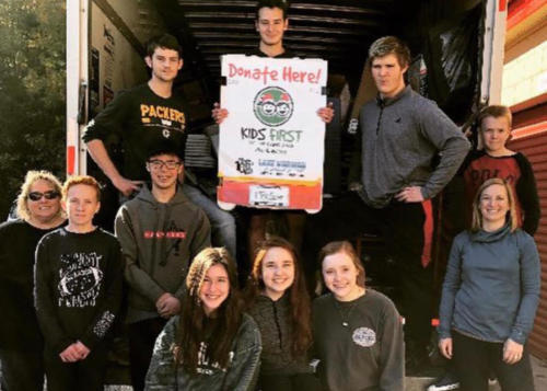 Amazing students, amazing volunteers! So thankful to Porter Ridge NHS for helping us move to our seasonal storefront!  Without groups like these, Kids First wouldn't be able to fill the wishes of so many children in need!